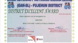 EN – Socfin agriculture company gets meritorious award