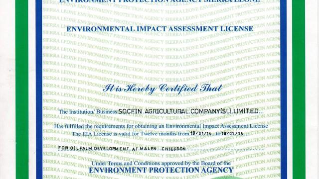 EN – Environmental Impact Assessment Licence
