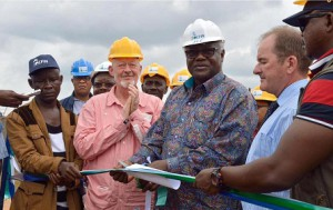 Official opening of the Mill by President Koroma